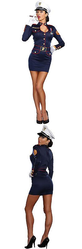 Halloween Costumes: Brand New Navy Admirable Women Sailor Outfit Adult Costume BUY IT NOW ONLY: $37.53
