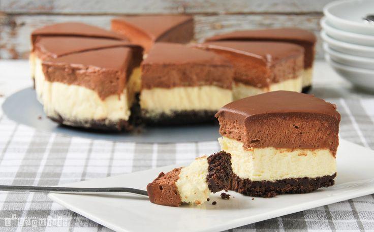Tarta de queso y mousse de chocolate | L'Exquisit