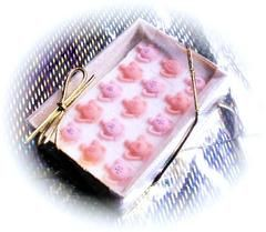 15 Decorated Sugar Cubes - Teapot - Decorated Sugar Cubes - Roses And Teacups