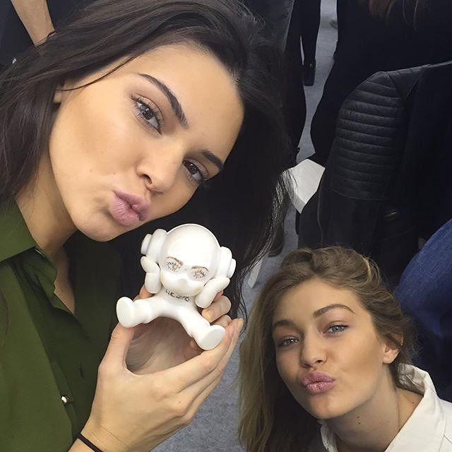 Kendall Jenner and Gigi Hadid at Elie Saab