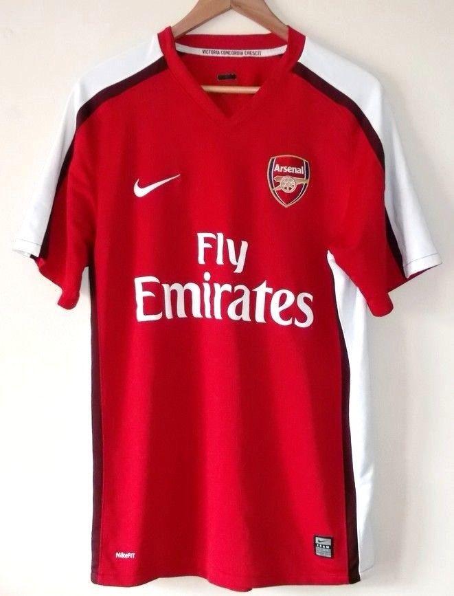 e12035665 ARSENAL 2008 - 2010 NIKE Mens Size Medium Home Kit Football Jersey Shirt   Nike