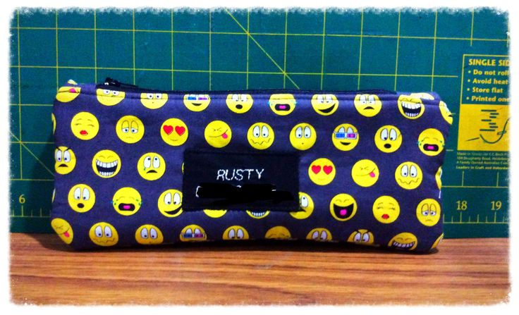 Personalised pencil case, zipper pouch, make up bag, cosmetic bag by FengsCreations on Etsy