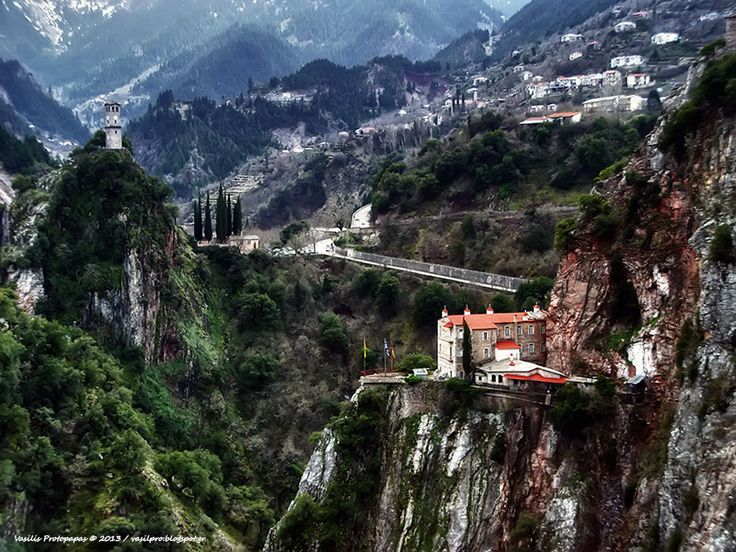 Proussos Monastery, north of Karpenisi. It was built in de 9th century. Proussos, Evritania_ Central Greece