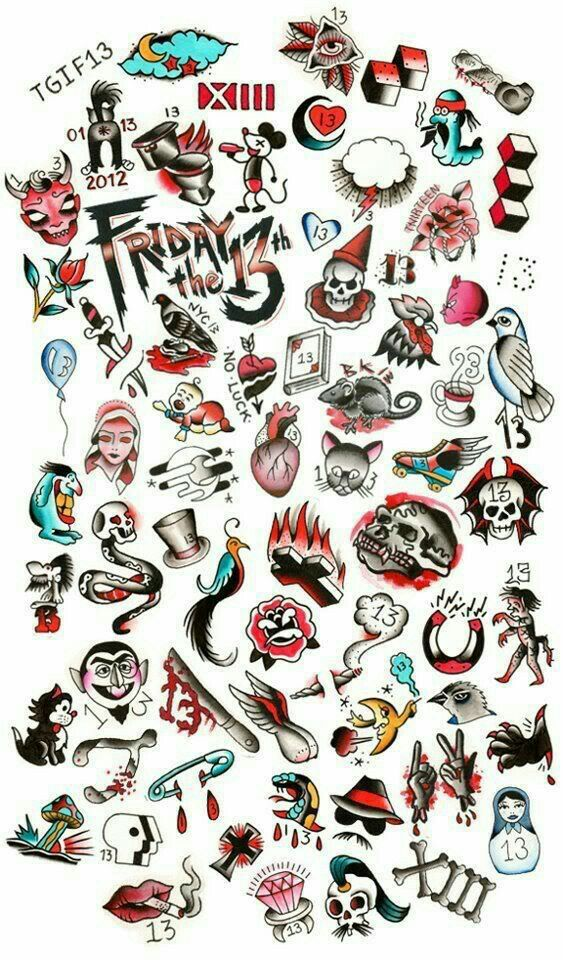 10 best friday the 13th flash images on pinterest tattoo for Friday the 13th tattoo specials near me