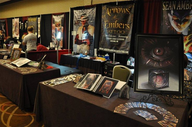The Arrows and Embers Tattoo booth at the 2015 Boston