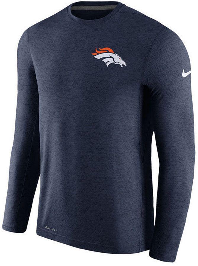 Nike Men's Denver Broncos Coaches Long Sleeve T-Shirt