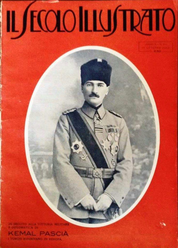 Atatürk, İtalyan Il Secolo Illustrato Dergisi Kapağında. (1920'ler) | MustafaKemâlim