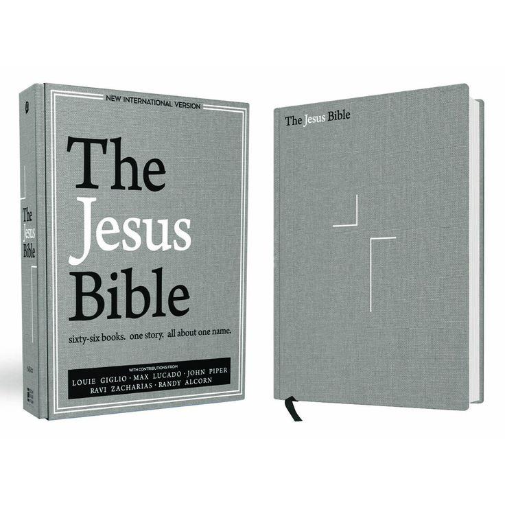 The Jesus Bible, NIV Edition, Cloth over Board, Gray Linen