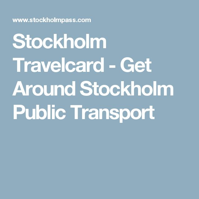 Stockholm Travelcard - Get Around Stockholm Public Transport