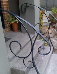 Stair Railings Interior on Handrails Designs Railing Design Wrought Iron Handrail Handrails Más