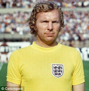 Bobby Moore (England) playing in his 107th International game v Italy in 1973