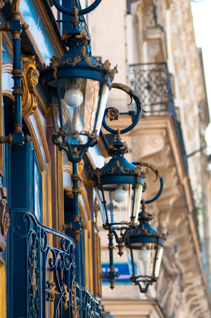 Blue Lanterns ~ Paris Photography  ~ photo by Georgianna Lane