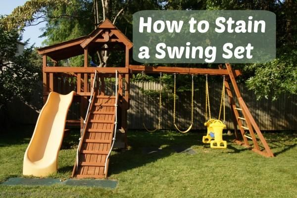 How To Stain A Swing Set Amp Homeright Finish Max Pro