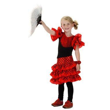 Spaanse jurk met polsbandje maat 116/128  Klap in je handen en dans in het rond als een echte Spaanse danseres in deze prachtige flamenco jurk! Inclusief leuke bijpassende armband.  EUR 12.99  Meer informatie