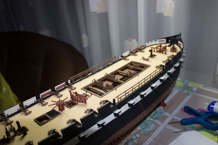 Uss Constitution Model Rigging Amidship Rails Ships Boat