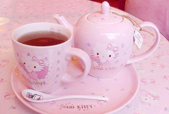 K-Pop And KawaiiTeas Time, Afternoon Teas, High Teas, Teapots Pink, Kitty Teas, Teas Sets, Hellokitty, Measuring Cups, Hello Kitty