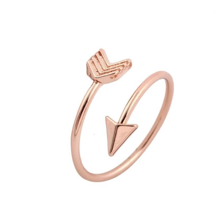 - 18K gold, silver and rose gold plated. - can be worn as midi ring. - size 6.75, can be adjusted to different sizes.