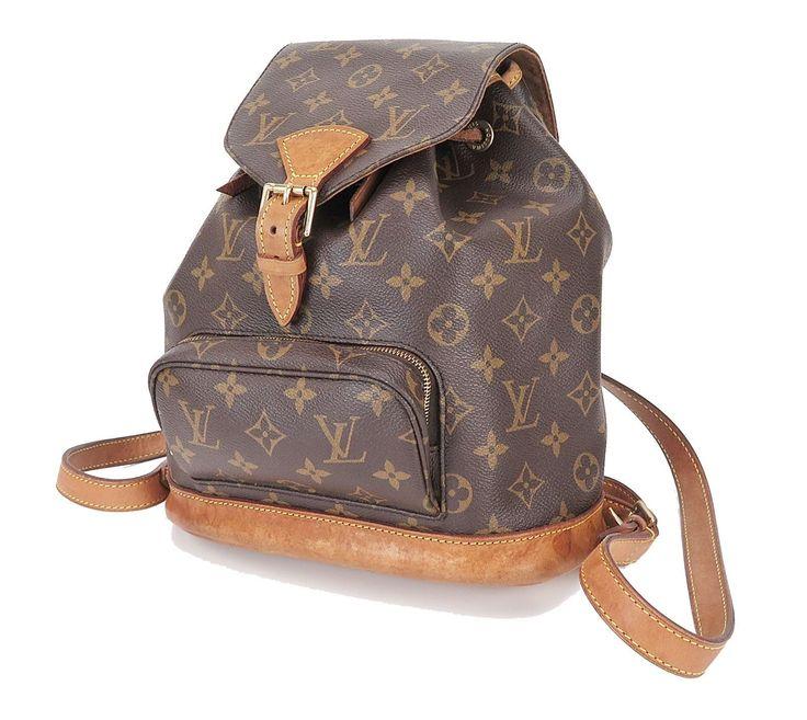 Authentic LOUIS VUITTON Montsouris MM Monogram Backpack Bag #28452