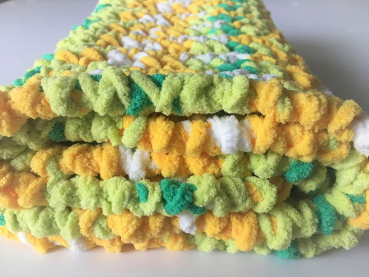 Green Yellow Baby Blanket, Crochet Baby Blanket, Photo Prop, Baby Blanket, Car Seat Blanket, Preemie Babies, Gender Neutral, Ready to Ship by CraftCreationsbyRose on Etsy