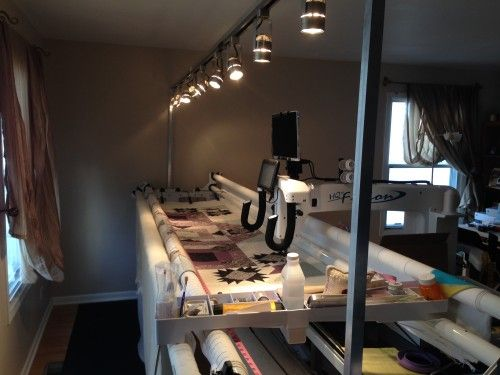 Longarm light bar hack | Quilting - Longarm Light Ideas ...