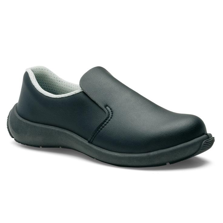 Chaussures de Sécurité S.24 Ligne Executive Modèle Bianca Noir S3 Réf. 8192 • Tige synthétique TEXLIGHT noir • Doublure textile • Embout acier • Semelle anti-perforation inox • Semelle extérieure TPU light • Semelle intérieure SENSATION+