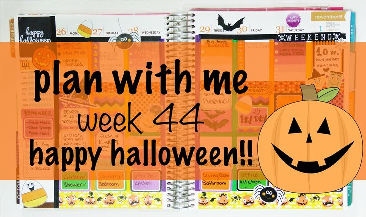 Plan With Me - Halloween Week 44