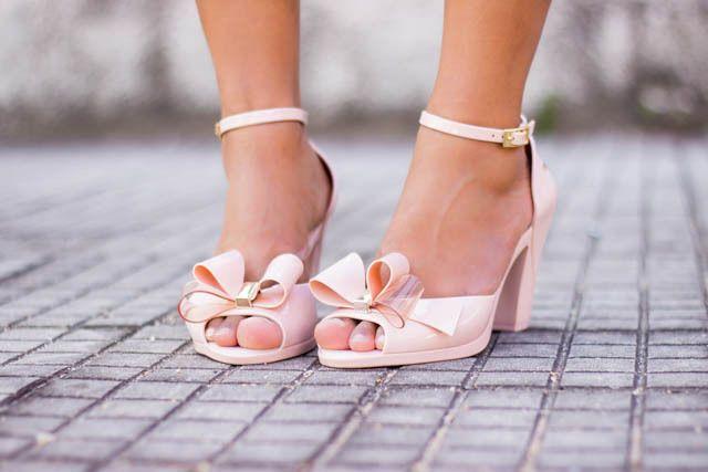 Zaxy Diva Peep Toe Nude Heels [Melissa] [Mel shoes] [Jelly Shoes] #Zaxy #OpenToe #BridalorWedding