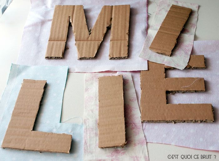 DIY Fabriquer des lettres géantes en carton