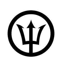 Percy Jackson trident circle decal by jkl3shop on Etsy