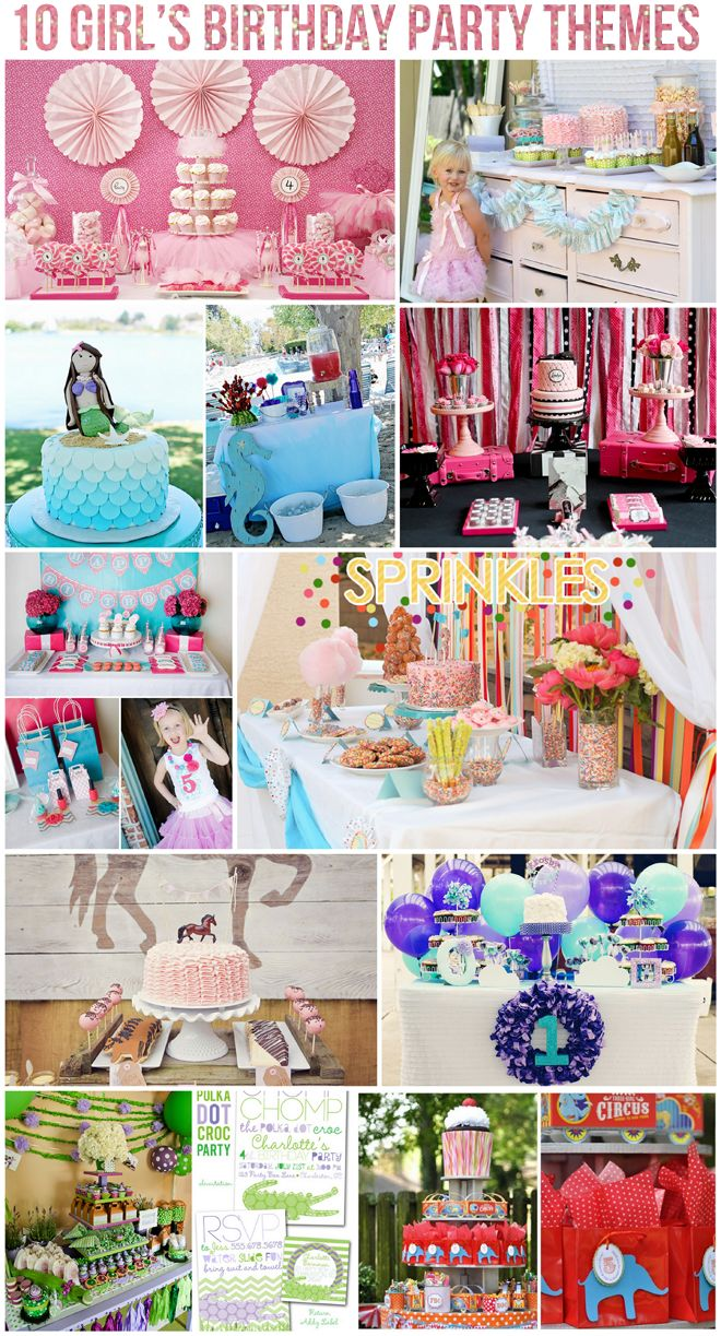 Top 10 Girls Birthday Party Themes on pizzazzerie.com #party #birthday