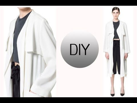 DIY FALL ESSENTIAL //  HOW TO MAKE A TRENCH COAT - YouTube