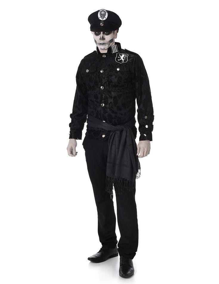 Disfraz de policía zombie hombre: Este disfraz de oficial de policía incluye…