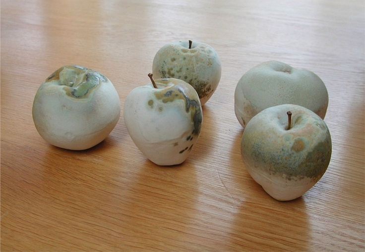 Anya Gallaccio naturally we think of the apples in the non decomposed state but if they are left to the natural world they grow mould. This could be seen as next nature - the nature developed from the 'norm'