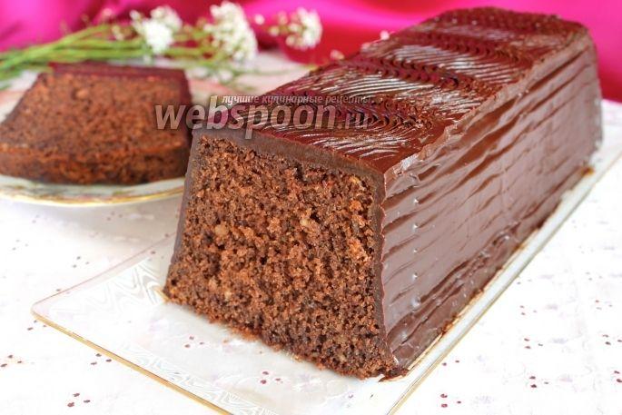 Шоколадный кекс на минералке