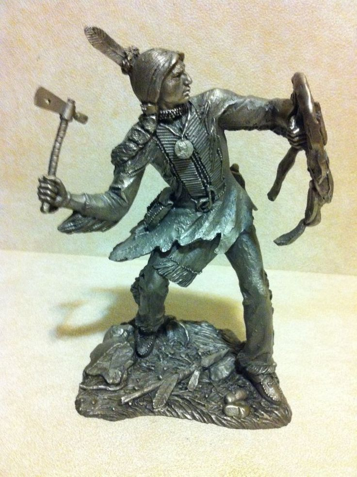 Franklin mint 1986 old west pewter indian commanche 912