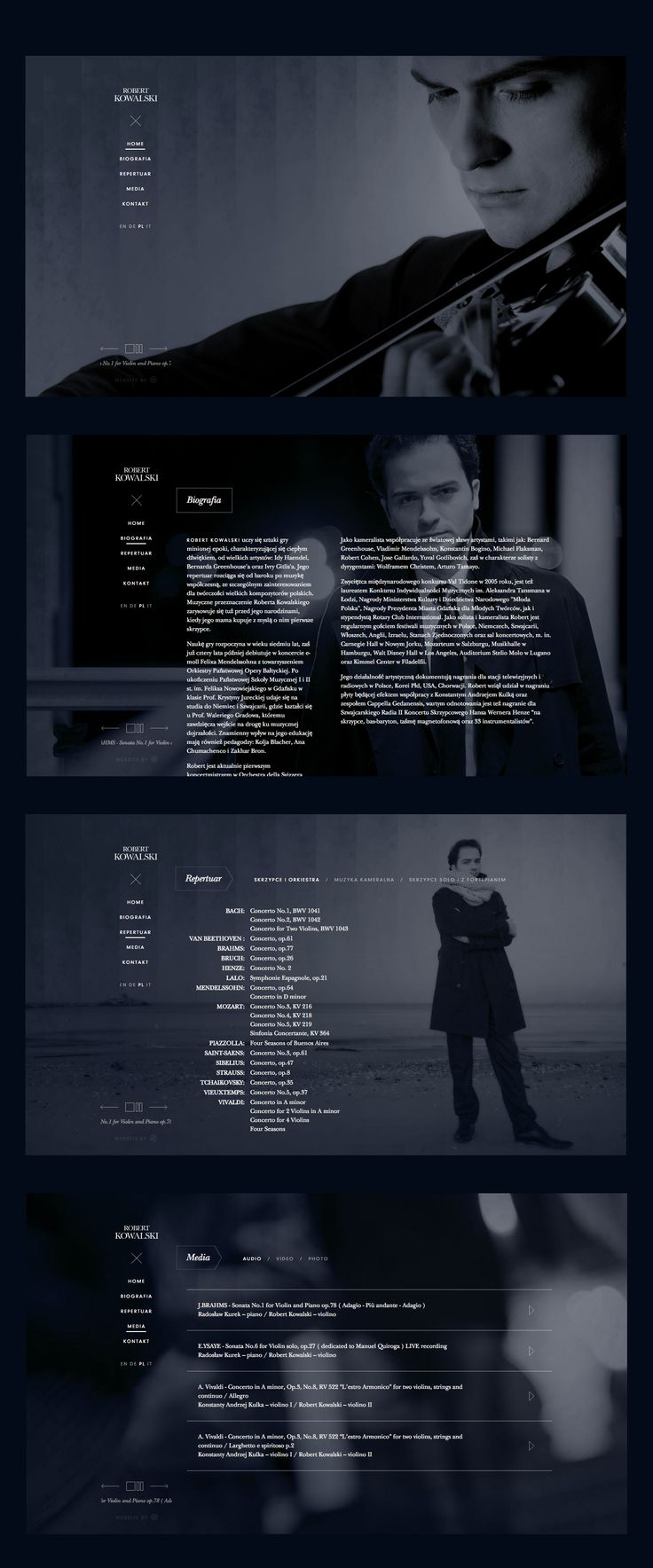 Robert Kowalski Violinist website