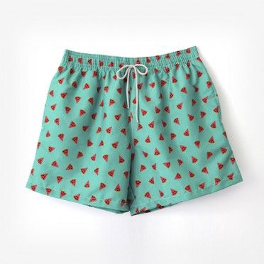 €39.95 Green watermelon men swim short / Bañador de hombre Ocoly verde de sandias