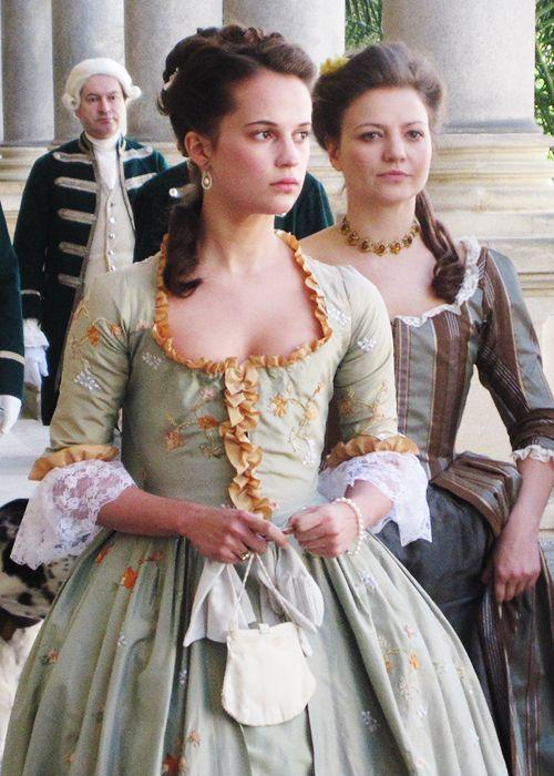 Caroline Matilda of Great Britain - Alicia Vikander in A Royal Affair, set between 1766 and 1783 (2012).
