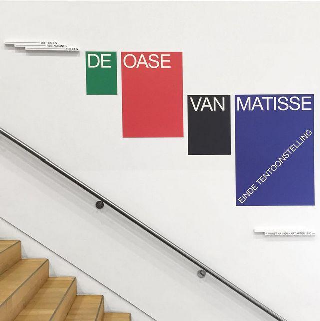 Stedelijk Museum Amsterdam identity and signage by Mavis and van Deursen.