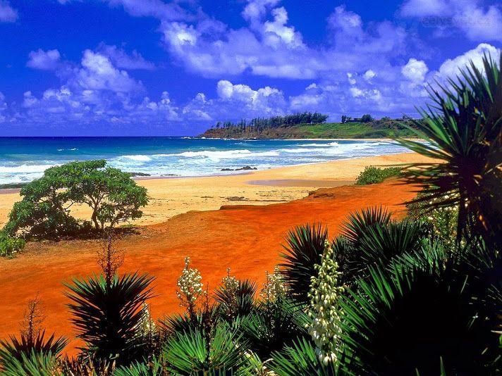 Пляж Кауаи. Гавайские острова