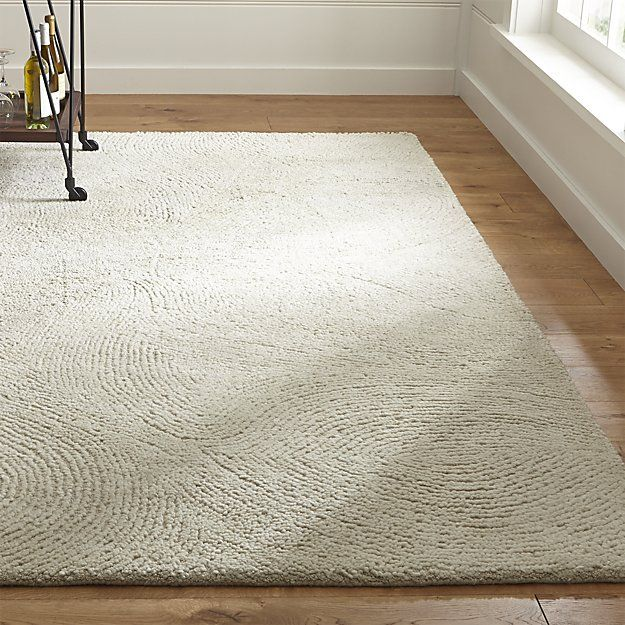 Alfredo Ivory Wool Rug | Crate and Barrel