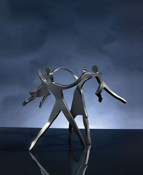Dancing+Family by Boris+Kramer: Metal+Sculpture available at www.artfulhome.com