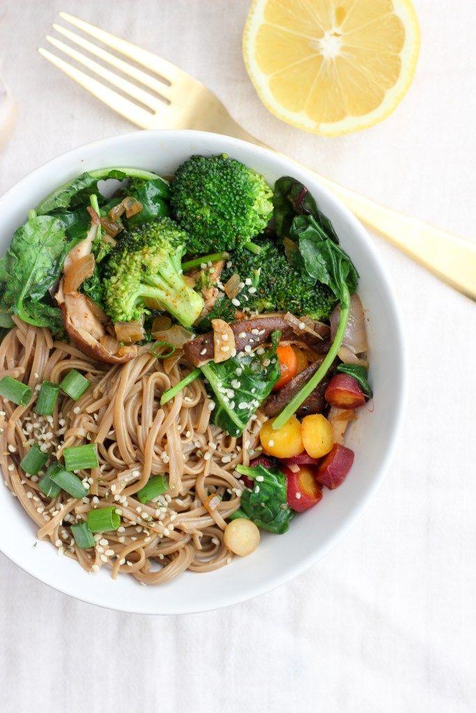 vegan buckwheat noodle stir-fry   apolloandluna.com