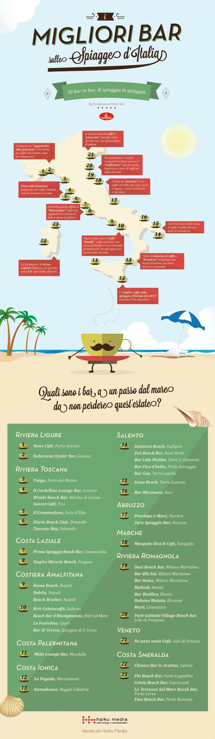 I migliori bar nelle spiagge italiane http://www.b-eat.it/blog/digital/mokasirs-e-le-infografiche-da-sorseggiare-col-caffe