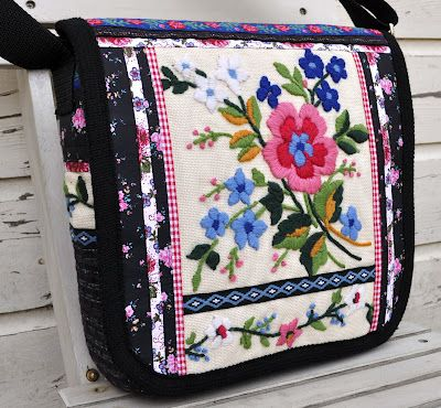 Beautiful bag from embroidery