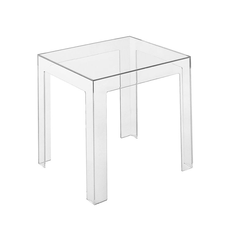Discover the Kartell Jolly Side Table - Crystal at Amara