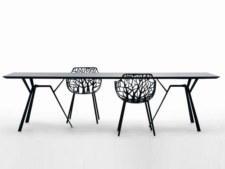 Aluminium garden table RADICE QUADRA   Garden table - FAST
