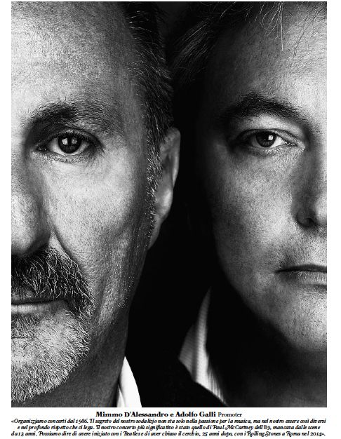 """Mimmo D'Alessandro and Adolfo Galli - Rolling Stone Italy """"The 100 Faces of Italian Music"""""""