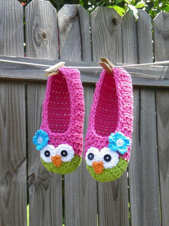 Owl slippers, cute!