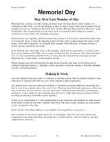 Memorial Day Activities (Grades 6-12)